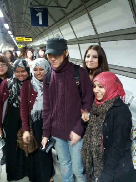 Block B Zico at Heathrow Airport