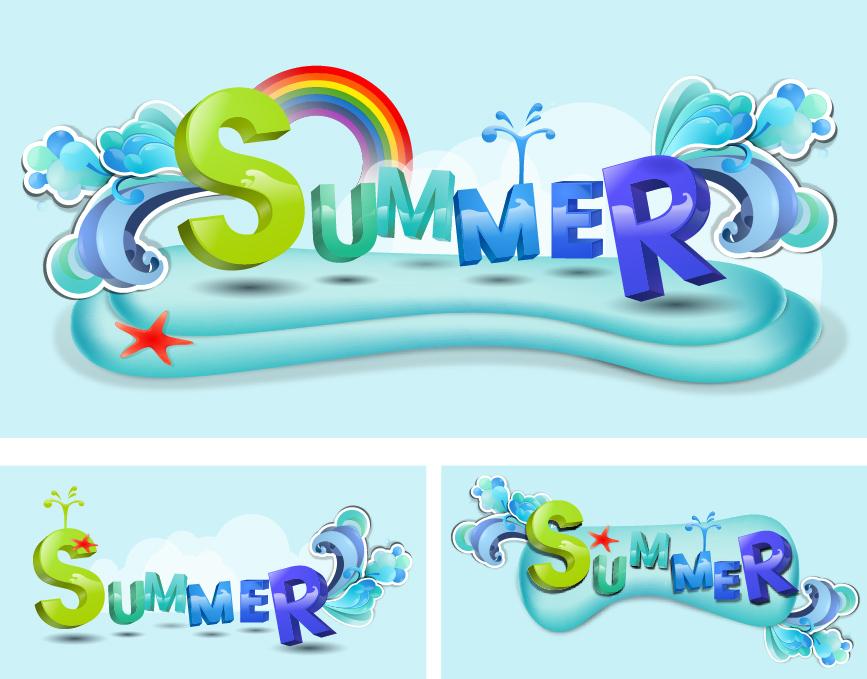 Yaz mevsimi vektör arşivi -3-