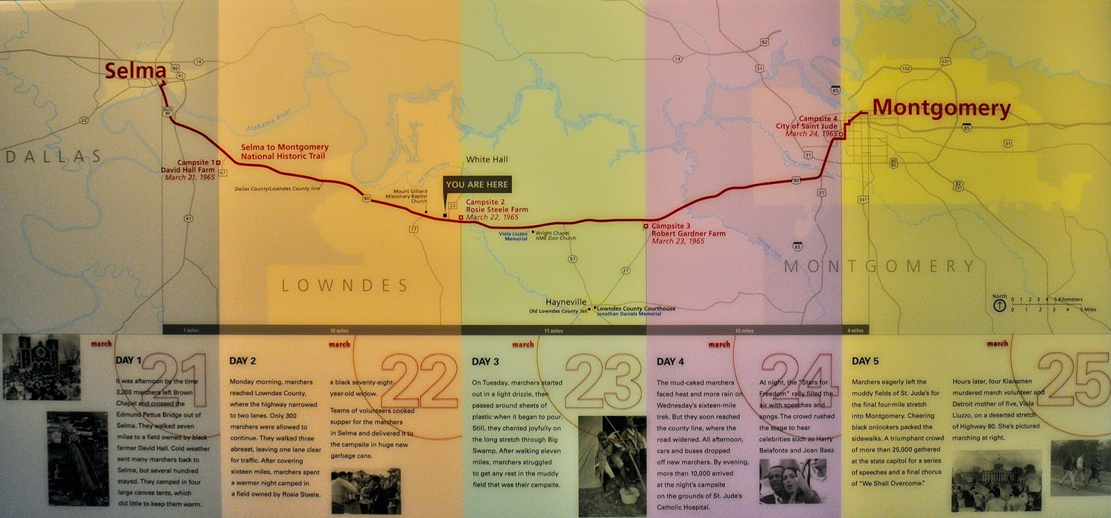 selma to montgomery final march map