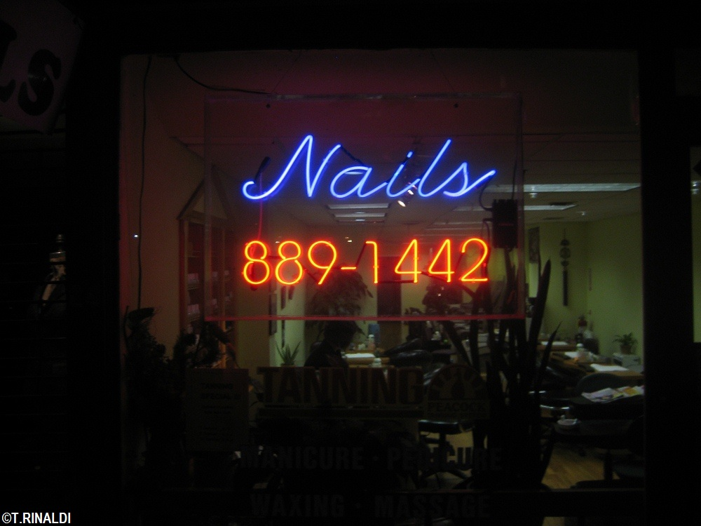 New york neon nail salon neon for 38th street salon