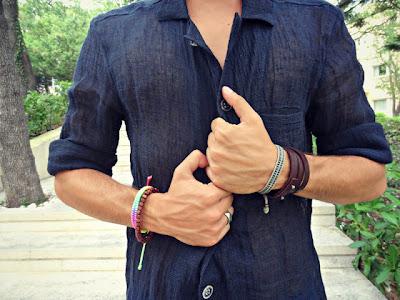 guy wearing bracelets