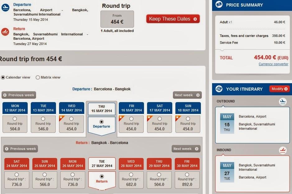 Oferta de vuelos Barcelona Bangkok