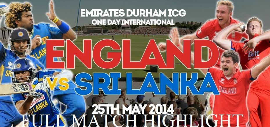 Sri Lanka tour of England 2014 - 2 ODI - Full Match Highlights