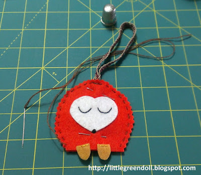 DIY Christmas Ornament Hedgehog