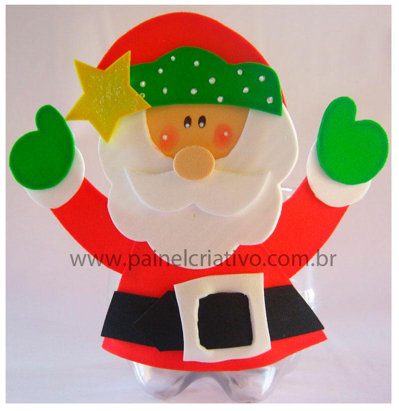 Molde Papai Noel Na Garrafa Pet Lembrancinha De Natal