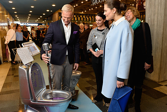 Crown Princess Victoria at the official opening of WaterAid