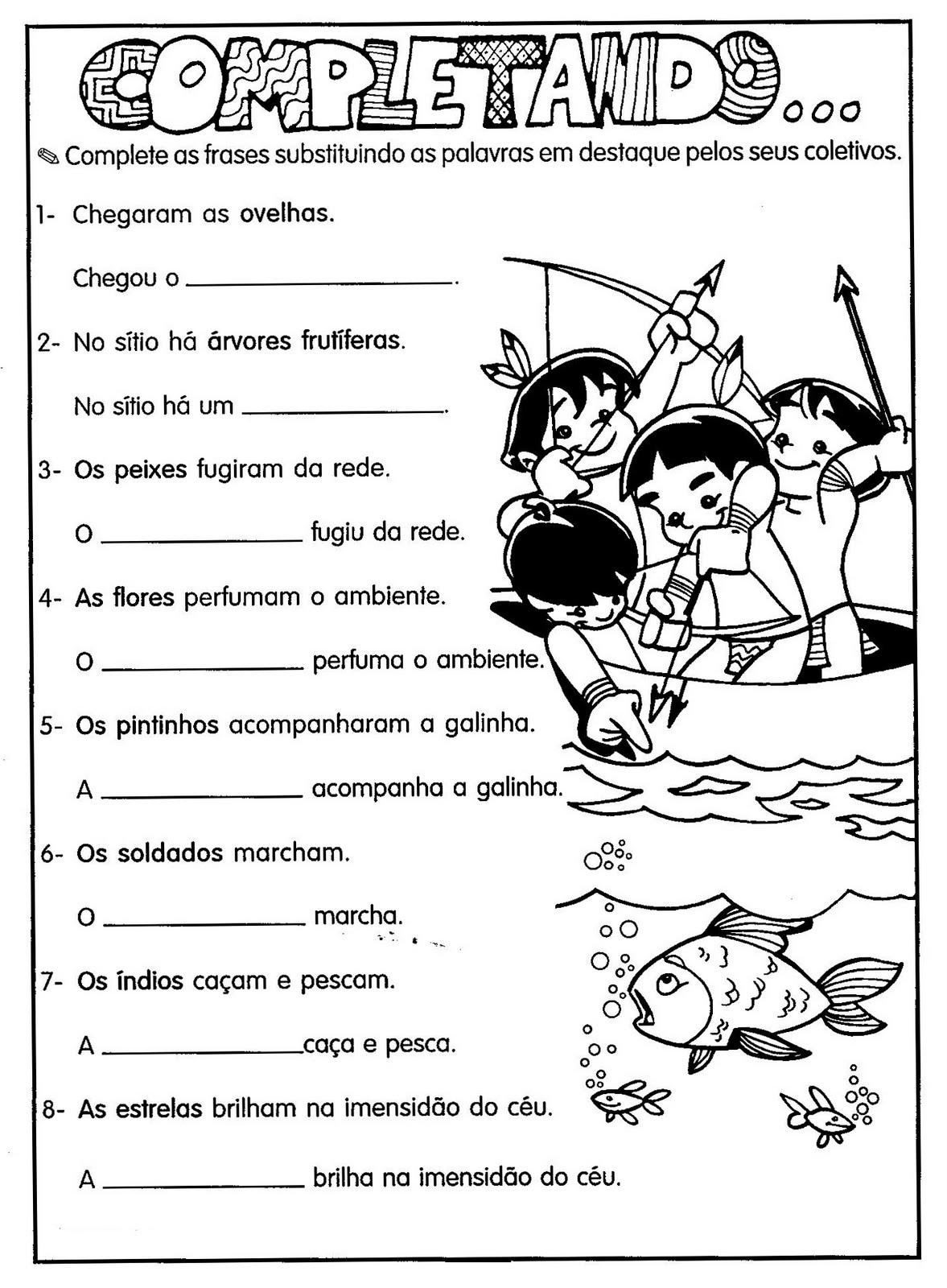 ATIVIDADES DE SUBSTANTIVOS COLETIVOS