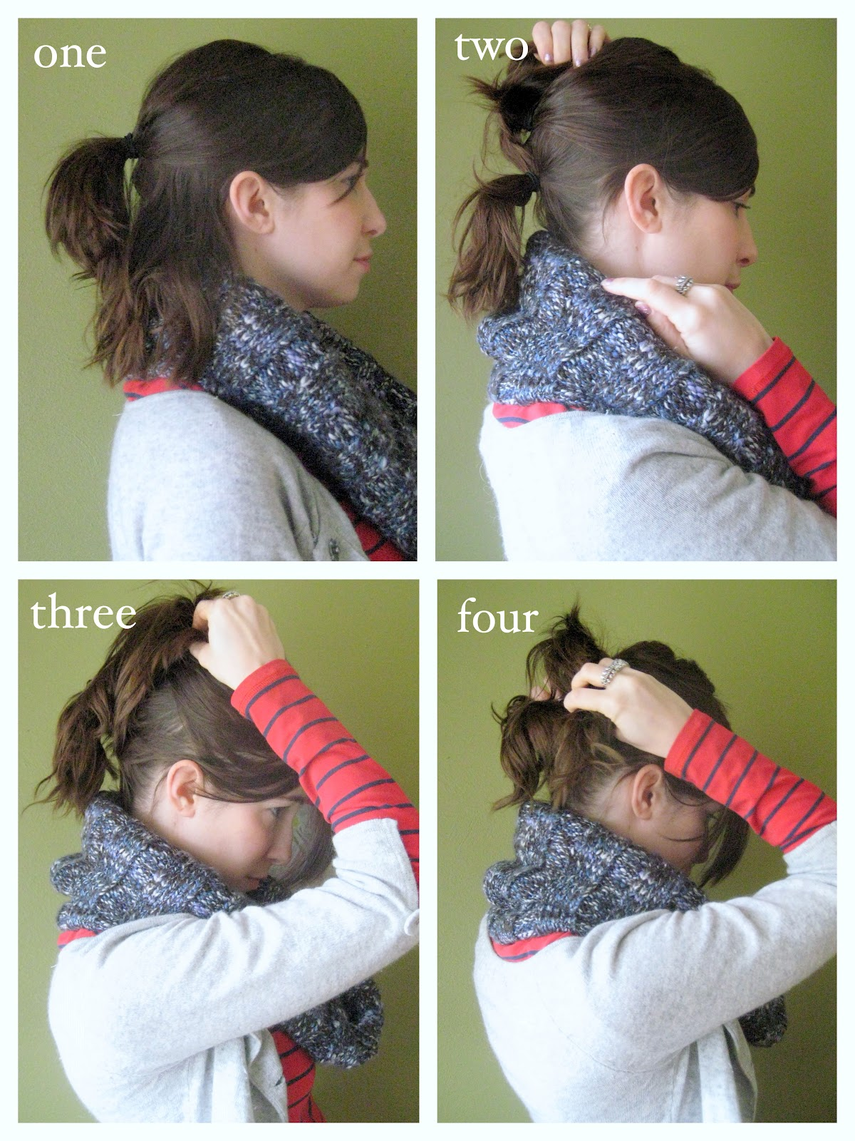 Hairstyles For Short Hair In Ponytail : miskabelle vintage: How To: Style A Long Pony Tail from Short Hair