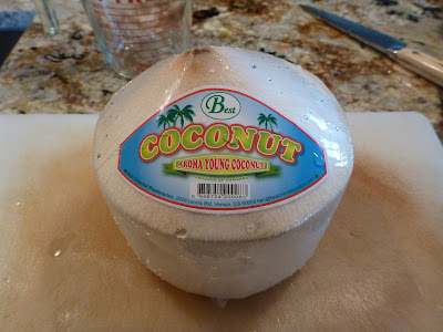 Step 1: Wash the outside of the coconut