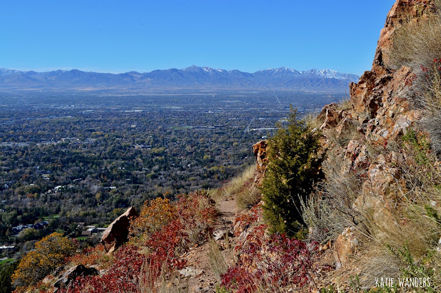 Views of the valley from the Mount Olympus Trail