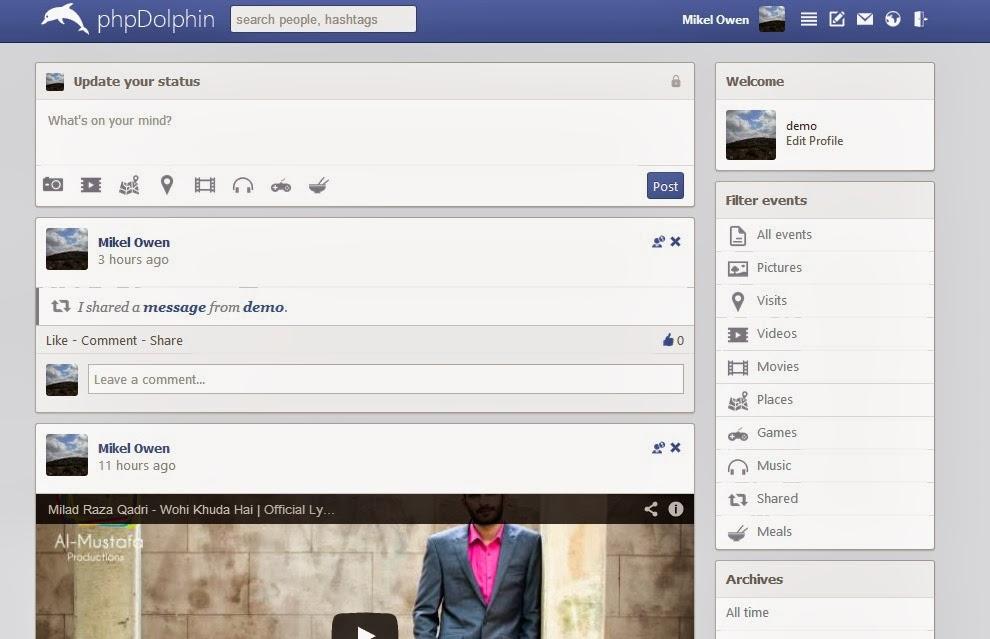 PhpDolphin v2.8 – Facebook Alternatif Script İndir