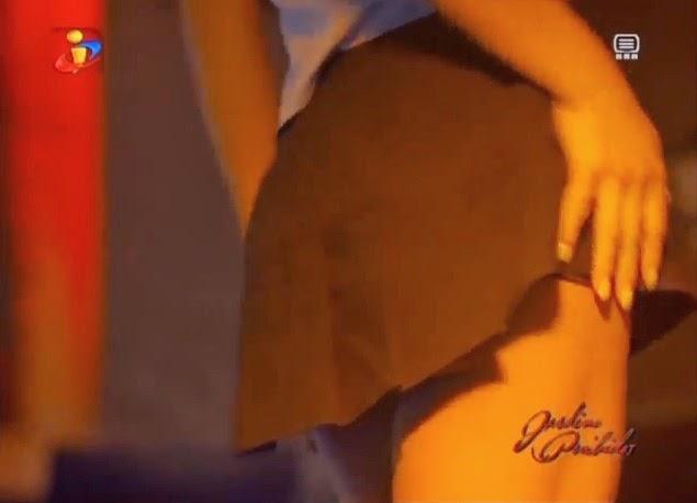 Striptease de Laura Figueiredo em jardins proibidos