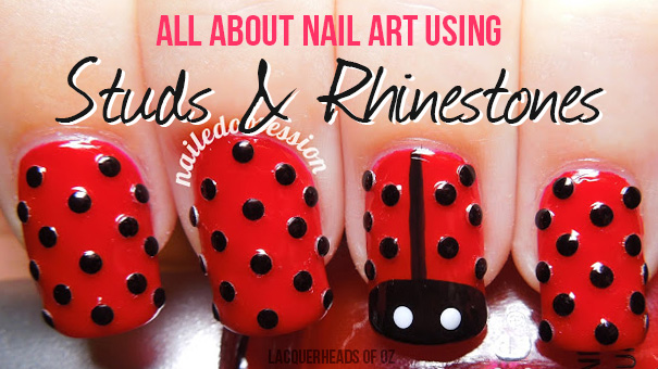 How to Use Studs & Rhinestones for Nail Art