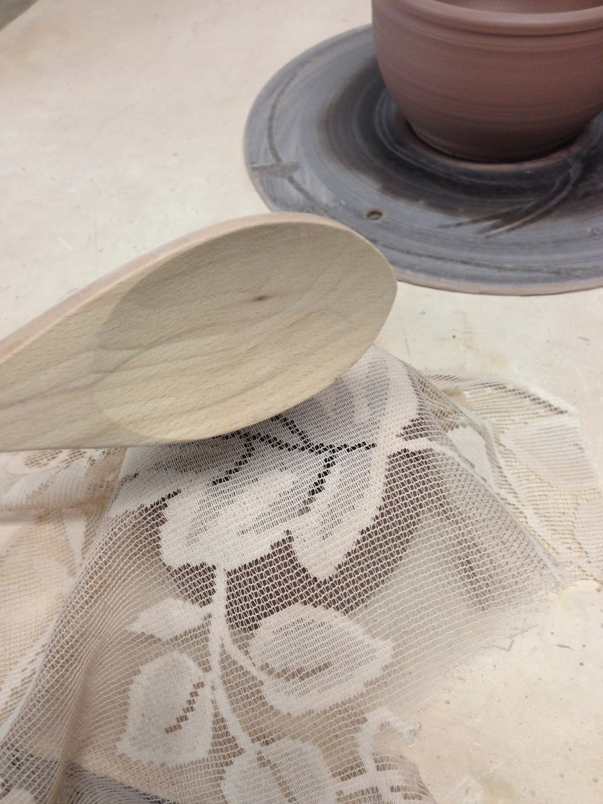 making pattern on clay