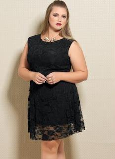modelo de vestido de renda para gordas - dicas e fotos