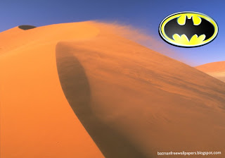 Batman Dark Knight Logo at Desert Wind Desktop Wallpaper