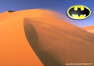 Batman Dark Knight Logo at Desert Wind Desktop Wallpaper