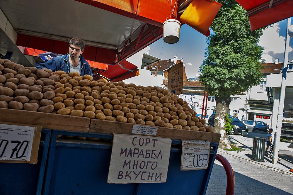 A market in Sofia, Bulgaria