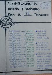 Calendario de fechas de exámenes