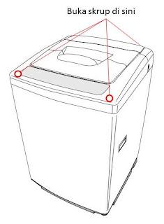 cara membongkar tabung / Drum mesin cuci - baut