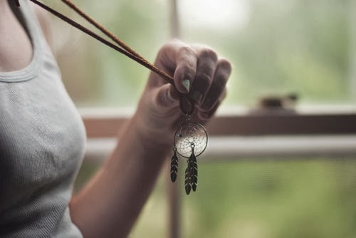 beautiful dreamcatcher necklace