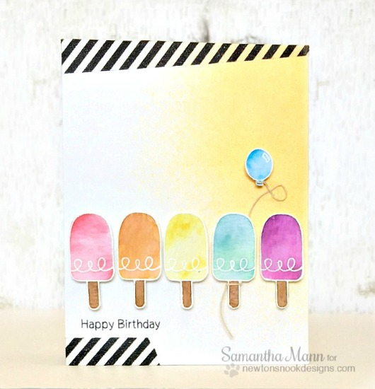 Ice Cream Birthday Card by Samantha Mann | Summer Scoops stamp set by Newton's Nook Designs