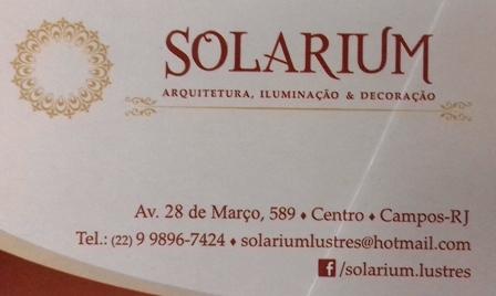 Iluminação é na Solarium