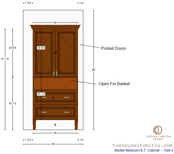 Master Bedroom TV storage cabinet design - thehouseofsmiths.com