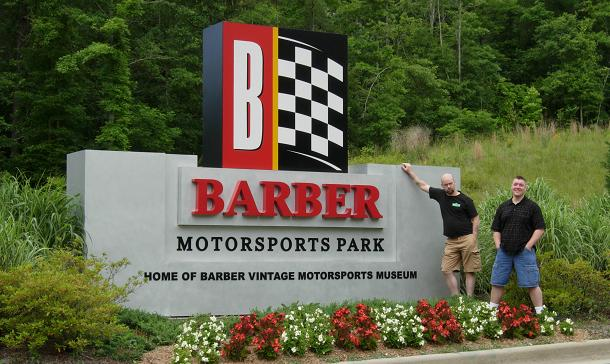 Yes, this is the entrance to Barber Motorsports Park. Fortunately they ...