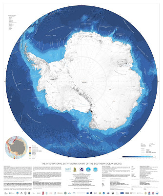The new IBCSO map of Antarctica. Credit: IBCSO/Alfred-Wegener-Institut