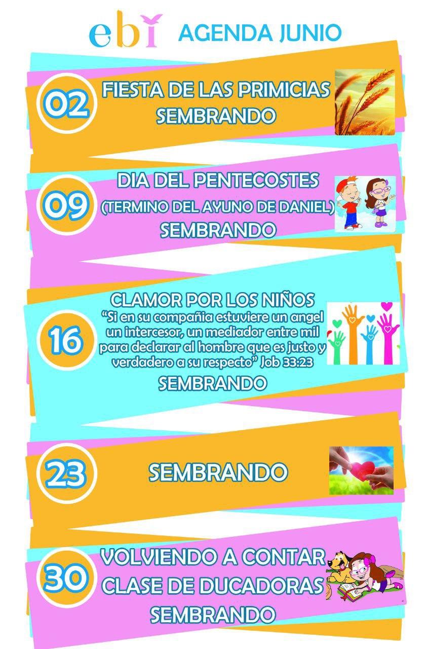 Agenda mes de Junio