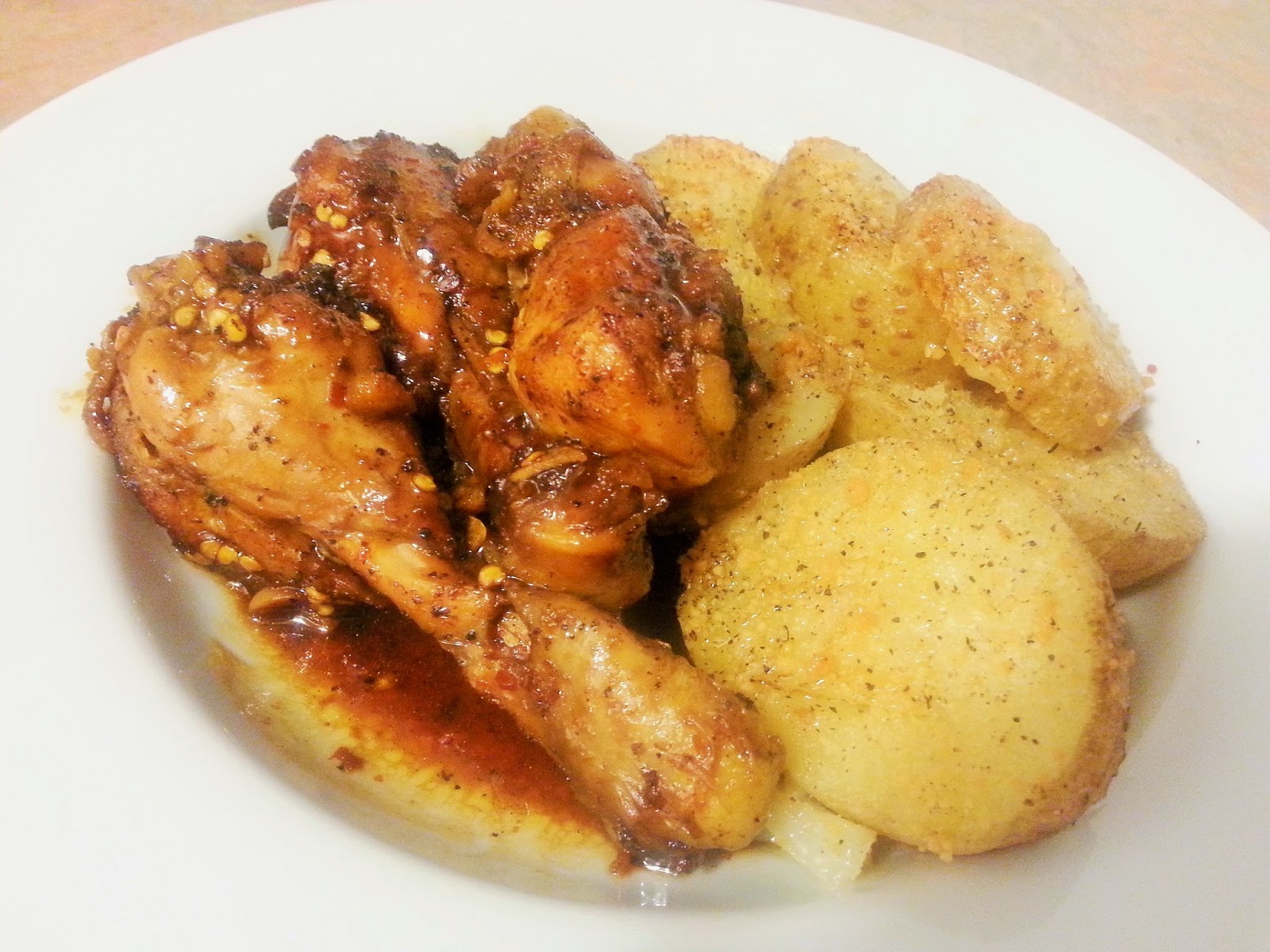 Chile-Garlic Chicken Legs Recipe — Dishmaps