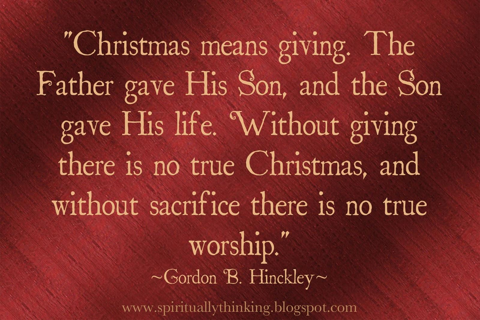 Life Sacrifice Quotes And Spiritually Speaking Christmas Giving & Sacrifice