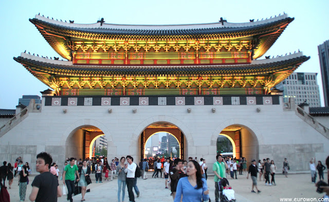 Gwanghwamun, puerta de entrada al Palacio Gyeongbokgung de Seúl