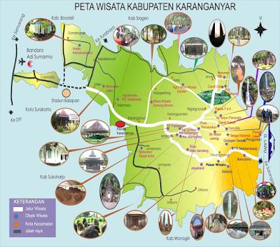 Peta Wisata Kabupaten Karanganyar