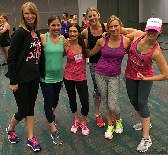 Sweat Pink, FitApproach, IDEA World, Gabrielle Reece