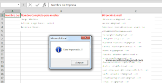 VBA: Importando los contactos de Outlook a Excel.