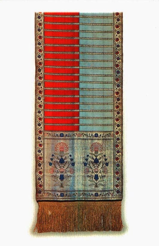 Four patterned Sluck sash second half of the 18th century