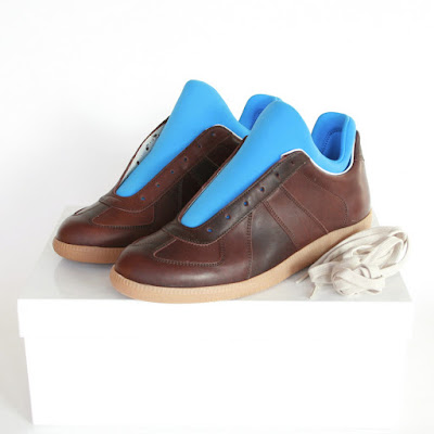maison martin margiela neoprene blue brown sneakers