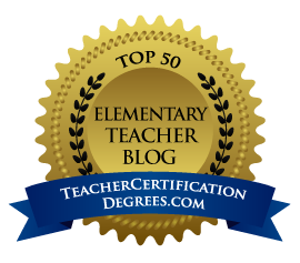 Fern Smith's Classroom Ideas, Number Seven on the Top 50 List of Elementary Teacher Blogs Award
