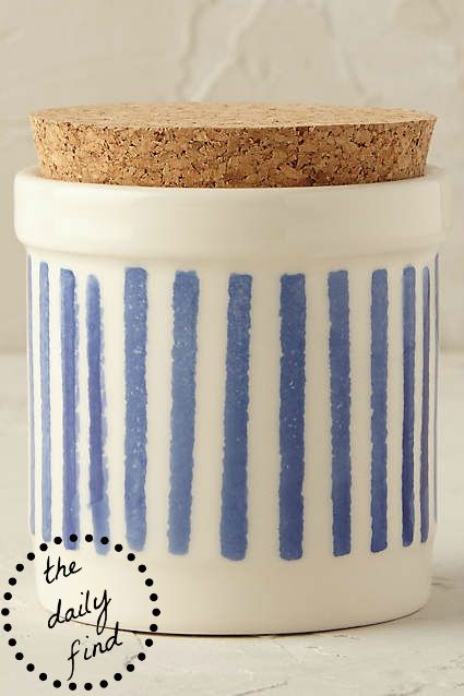 Anthropologie Painterly Spice Jar