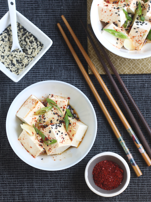 Korean Chili Chilled Tofu by SeasonWithSpice.com