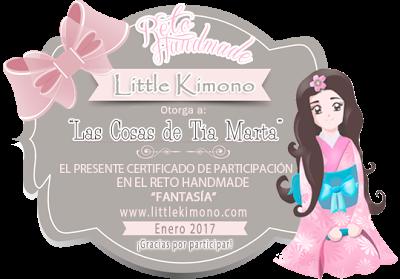 Certificado de participación Reto handmade Little Kimono: fantasía.