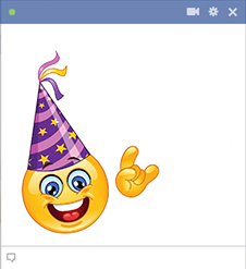 Facebook Smiley With Party Hat