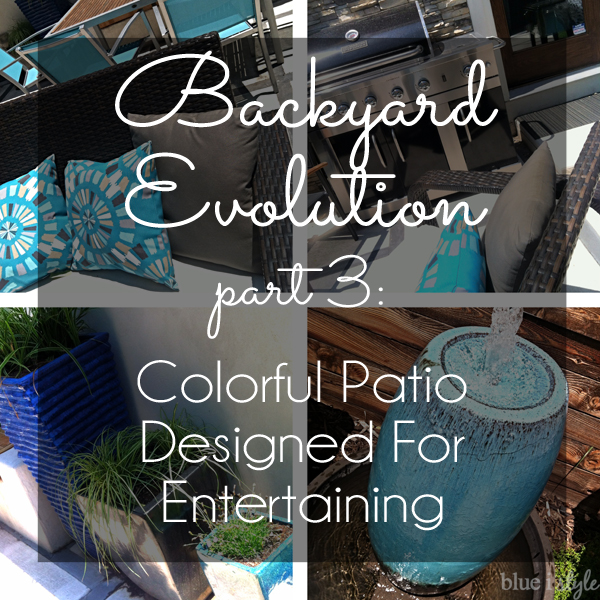 Colorful patio designed for entertaining