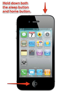 Hold The Sleep And Home Button Of iPhone Together