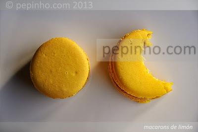 Macarons de limón
