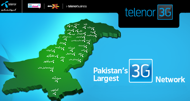 Telenor 3G Coverage Map