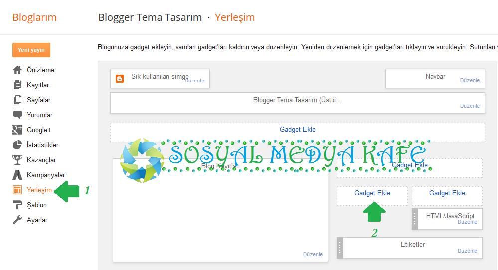 blogger gadget nasıl eklenir resimli anlatım