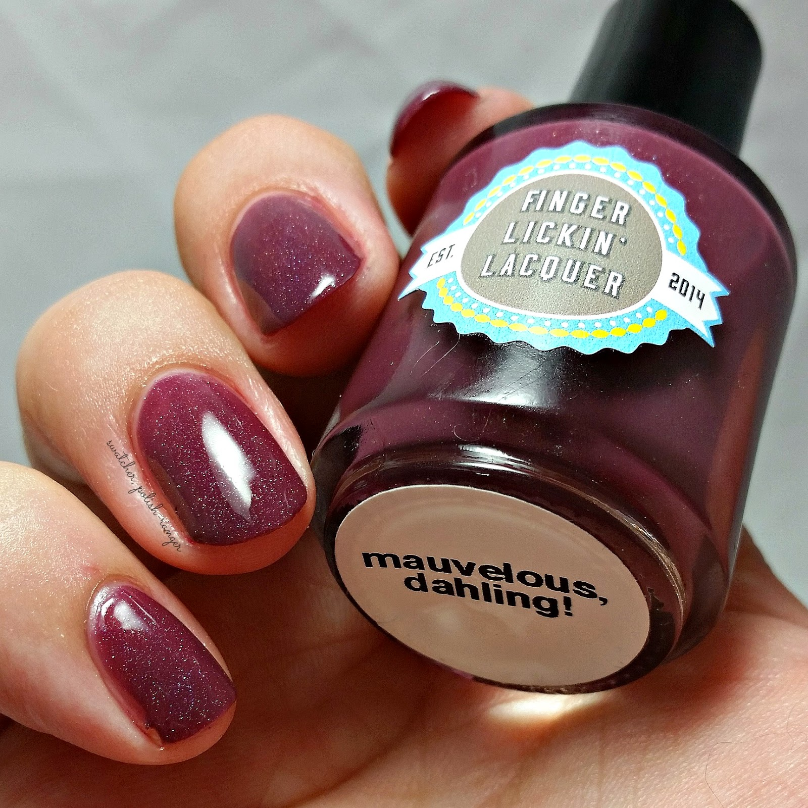 Finger Lickin' Lacquer Mauvelous Dahling! swatch